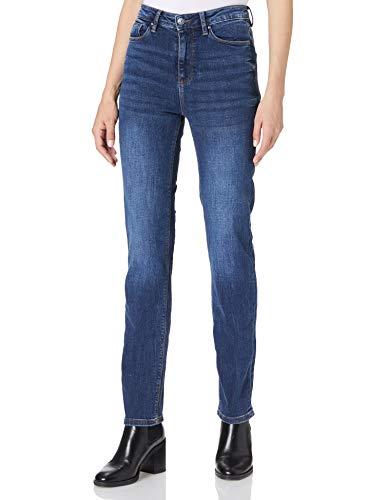 Springfield Jeans Straight Algodón Reciclado Lavado sostenible Pantalones, Azul Medio, 42