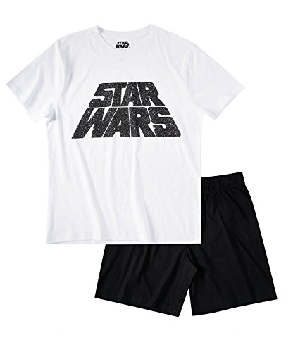 Star Wars-The Clone Wars Darth Vader Jedi Yoda Herren Shorty-Pyjama - weiß - L