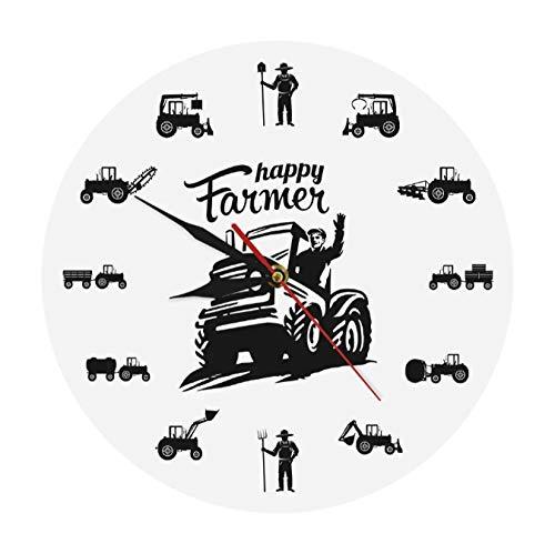 tyjsb Happy Farmers, máquinas agrícolas, Tractores, Reloj
