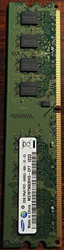 Samsung M378T5663RZ3-CF7Speichermodul für den PC, 2GB 2Rx8,1,8V, 240-PIN DIMM PC2–6400U-666–12-E3800MHz DDR2für Desktop-PCs