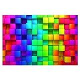 Bilderwelten Fotomural Premium - 3D Cubes - Mural apaisado papel pintado fotomurales murales pared papel para pared foto 3D mural pared barato decorativo, Dimensión Alto x Ancho: 320cm x 480cm