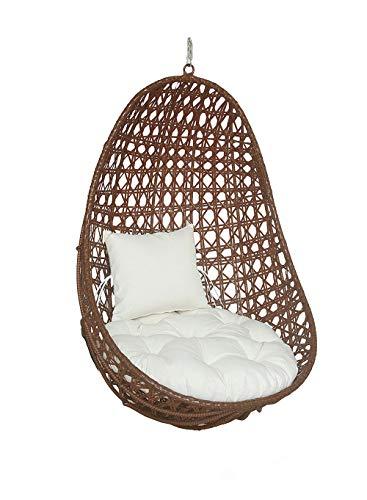 Home Deluxe - Polyrattan Hängesessel - Korb Nido - inkl. Sitz- und Rückenkissen