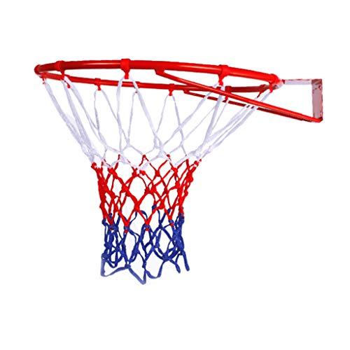 PPangUDing Hängender Basketballkorb Basketball Korb Hängender Basketball Rand Mit Ständer Outdoor Mini Basketball Box Durchmesser Mit Schrauben Und Netz für Indoor Outdoor (Multicolor)