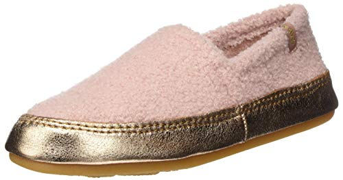 flip*flop Damen Homie Teddy Metallic Hausschuhe, Dirty Rose, 41 EU