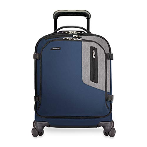 Briggs & Riley BRX-Explore Softside Wide-Body Carry-On Spinner Luggage, Blue