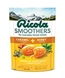 Ricola Smoothers Caramel & Honey Swiss Herb Throat Drops, 19ct