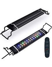 水槽照明 LEDライト 水槽ライト アクアリウムライト 熱帯魚ライト タイマー(6/10/12H/不定時) 3つの照明モード 10段階明るさ調整 スライド式 24個LED 50000時 長寿命 観賞魚飼育 水草育成 淡水&海水両用 (IPL-30)