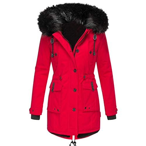 YKARITIANNA Men Big Boys Thicken Warm Overcoat, Casual Quilted Hooded Winter Zipper Coat Outwear Jacket Top Blouse