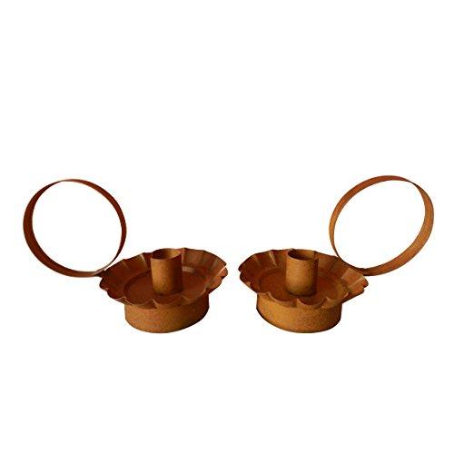 CVHOMEDECO. Craft Outlet Primitif rustique Cercle pour bougies. 17,8 x 10,2 x 10,2 cm, Lot de 2.
