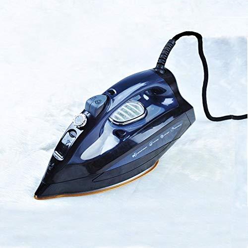 NUEVO Plancha eléctrica 15 s Calentamiento rápido 2500 W Potente plancha de viaje deslizante portátil con suela de titanio-Control de temperatura variable-Tanque de agua de 300 ml alto, Blue-OneSize