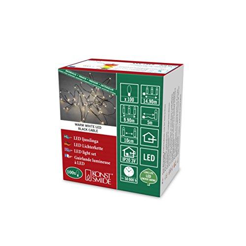 Konstsmide 6387-100 Guirlande Lumineuse à LED Effet Gouttes, Plastique/, 2 W, Or, 1490 x 1 x 1 cm