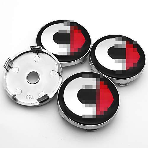 Tapas Para Llantas Accesorios de automóviles Modificación de automóviles Piezas para elfos Logotipo 4PCS 60mm Emblema Rueda Centro Centro Cordilleras Cubiertas Emblema Cubiertas de rueda de automóvil