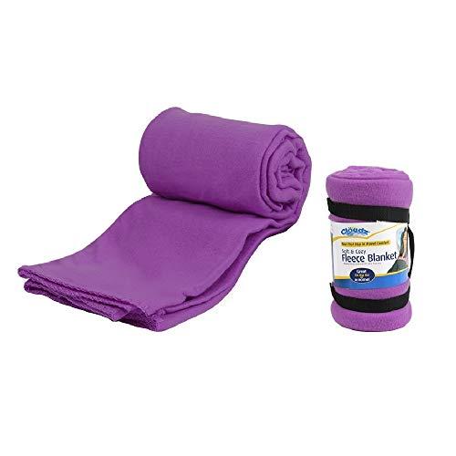 Cloudz Fleece Travel Blanket - Deep Purple