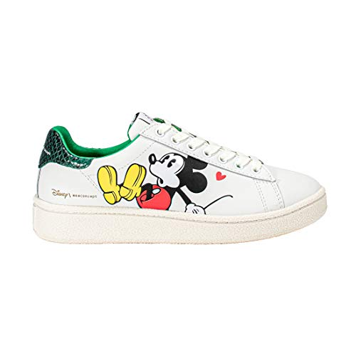 MOA MASTER OF ARTS 629 Mickey Maus 3D-Druck, Weiß - Farbe Weiß - Größe: 38 EU