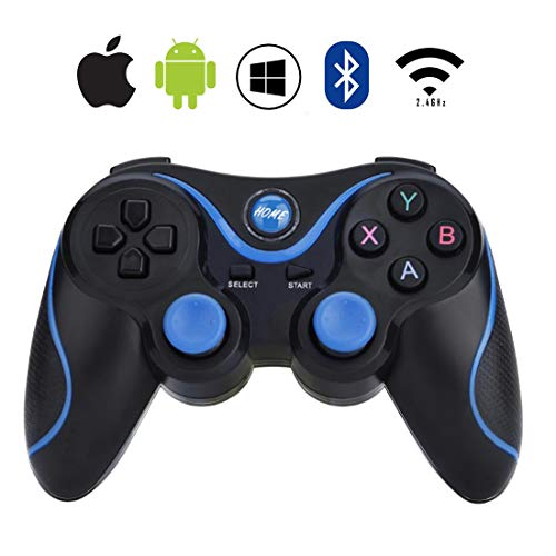 AVEDISTANTE Gamepad Bluetooth con 3 metodos de conexion, Controlador de Juego Inalámbrico Compatible con Computadora, TV, TV Box, Tableta, Smartphone Android, Ps3, PC/Windows...
