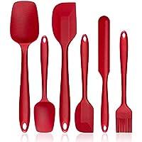 6-Piece Heat-Resistant Non-Stick Silicone Spatula Set (Red)