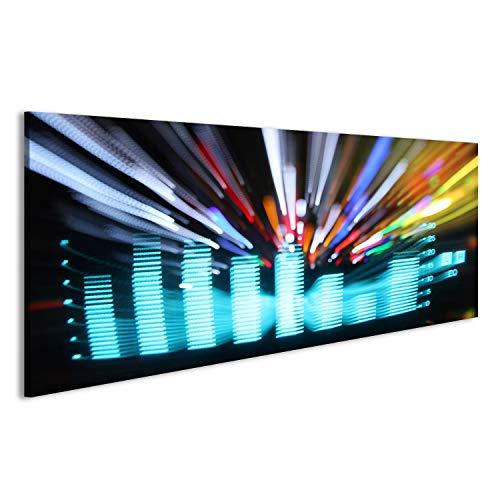 Cuadro Cuadros ecualizadores gráficos de música y clip de análisis de audio. disparo desde la pantalla de un sistema estéreo de alta fidelidad sobre lienzo formato grande listo para colgar estupendo