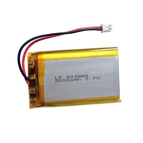3.7v Lithium Ion Battery 2000mAh with Cuh-zct1u Battery Plug JST PH2.0mm