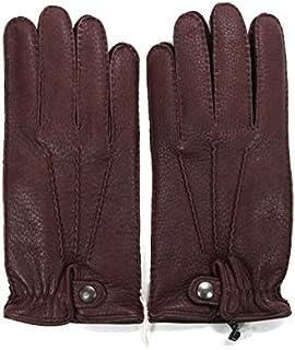[アルポ] レザー グローブ ダークブラウン 鹿革 シボ革 揉み革 手袋 メンズ AP182UA CERVO239 TAN
