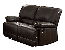 top rated Homelegance Cassville – Synthetic leather sofa bed with double back, brown 2021