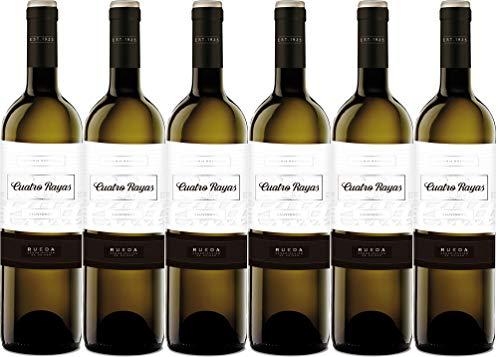 Cuatro Rayas Sauvignon Blanc Vendimia Nocturna Vino Blanco D.O. Rueda - 6 Botellas de 750 ml - (Total 4.5 L)