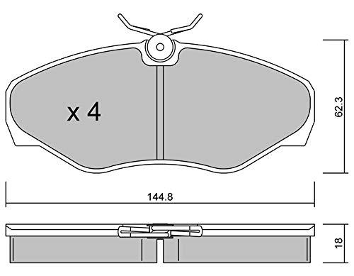 metelligroup 22-0338-2 Bremsbeläge, Made in Italy, Ersatzteile für Autos, ECE R90-zertifiziert, Kupferfrei