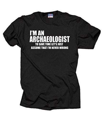 Milky Way Tshirts Hombres Arqueólogo científico Divertido de la Profesión de la Camiseta XXX-Large Negro