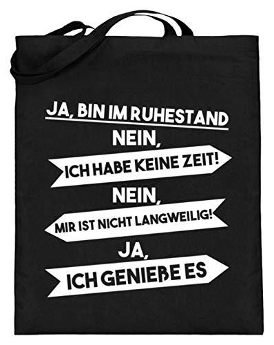 Ja, Ich BIn Im Ruhestand - Lustiges Spruch Design - Rentnerin, Rentner, Rente, Abschied - Jutebeutel (mit langen Henkeln)