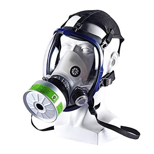 Full Face Gas Masker Voor Chemical, Bescherming Gas En Andere Werkzaamheden Protection, Perfect Fit To Het Hele Gezicht Veilig Te Gebruiken, Inclusief Filter