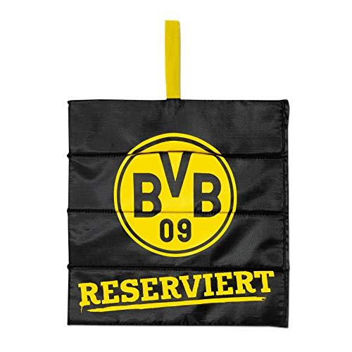 Borussia Dortmund Unisex Bvb-klappsitzkissen Reserviert Sitzkissen, schwarz, 35x34cm