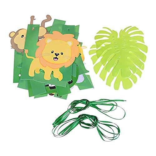 Gelukkige Verjaardag Dieren Banner Dieren Vlaggenlijn Thema Banner Opknoping Decoratie Folie Latex Folie Ballonnen DIY Set Accessoires Voor Kinderen Verjaardag Cham