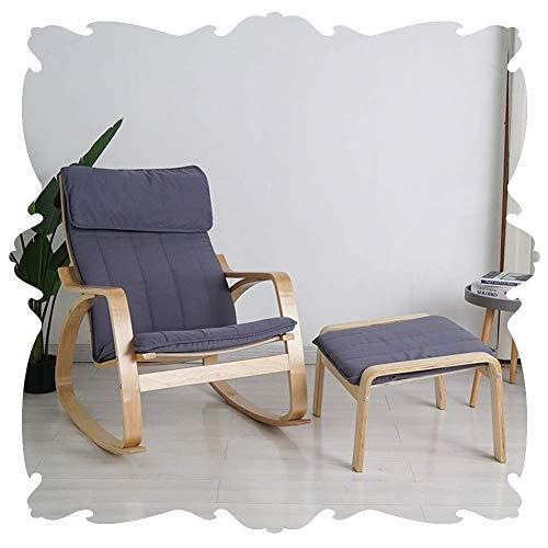Lounge Chair Mecedora Silla de Playa Interiores Patio Mecedora tapizada Salón clásico Sillones reclinables extraíble Almohada Porches del Patio Trasero Patio 8 Estilo (Color : A, Size : 82x68x98cm)