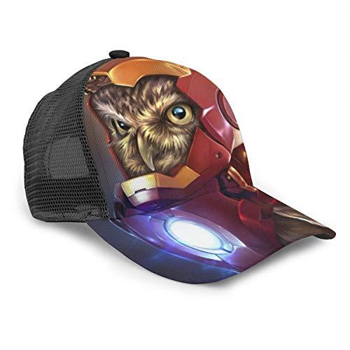 Unisex Baseball Cap The Owlvengers Iron Owl 3D Hip Hop Snapback Krempe Cap Cap Schwarz
