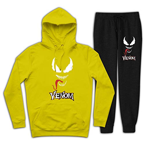 Ven-om Youth Tracksuit Hooded Sweatshirts Outfit 2 Piece Hoodies Top and Sweatpants Suit for Youth Boys Girls
