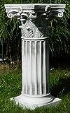 Beton Figur Skulptur korinthische Säule H 45 cm Sockel Dekofigur und Gartenskulptur