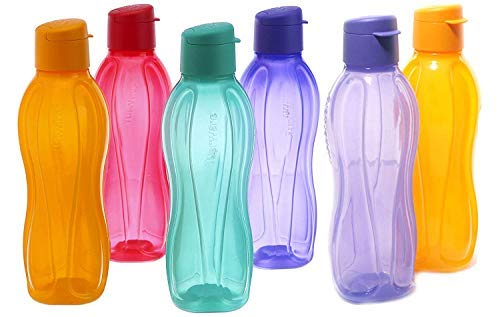 Water Bottle H2O 1000 ml Set of 6Multicolor (H2O-ABS-Bottles)