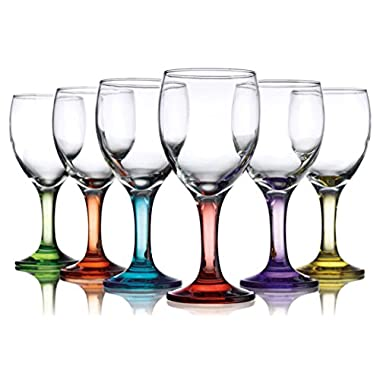 Carnival Color, Wine Glass 10 OZ, Set of 6 - 10 OZ