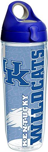 Tervis 1215211 Kentucky Univ College Pride Wrap Bouteille d'eau avec couvercle Bleu roi Tritan Transparent 24 oz
