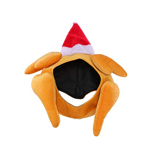 Holibanna acción de Gracias Sombrero de Pavo Sombrero de Cara Completa Regalos para Navidad decoración de acción...