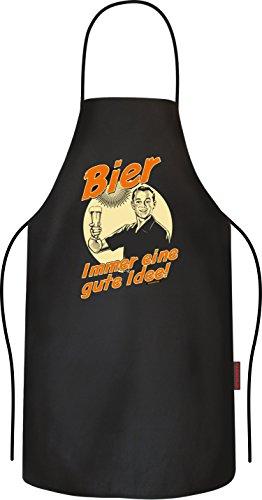 RAHMENLOS Original BBQ Grillschürze: Bier, Immer eine Gute Idee!