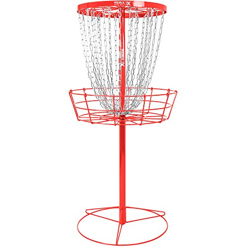 Remix Deluxe Practice Basket for Disc Golf - Red