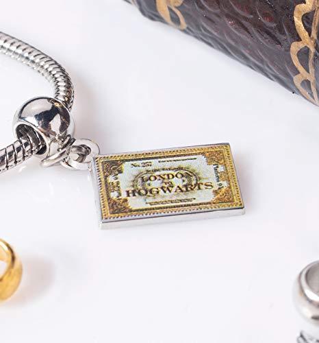 Offiziell lizenzierte Harry Potter Silber vergoldet Hogwarts Express Ticket Slider Charm - 4