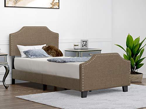 Mecor Twin Upholstered Platform Bed