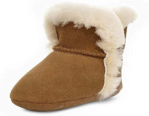 UGG Baby Lassen Ankle Boot, Chestnut, 04/05 M US Infant