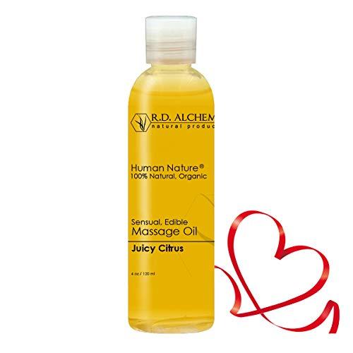 good massage oils 100% Natural & Organic Edible Massage Oil for Body. Best Massage Supply with Organic Essential Oils. Erotic Flavor: Juicy Citrus - Tangerine and Orange Oils