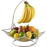 Dinette Decor Fruit Bowl with Banana holder, Fruit Basket with...