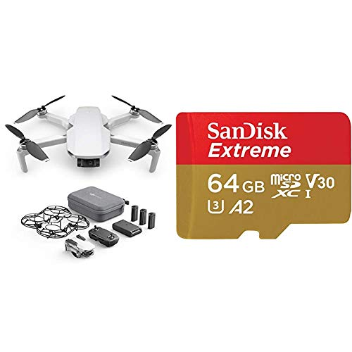 DJI Mavic Mini Combo - Drone Ultra-Léger et Ultra, 12 MP, Vidéo HD 2.7K (EU Plug) & Carte Mémoire...