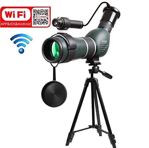XWLCR 20-60X60 Zoom Spotting Scope Monocular con WiFi Wireless Connect con aplicación de teléfono Inteligente,...