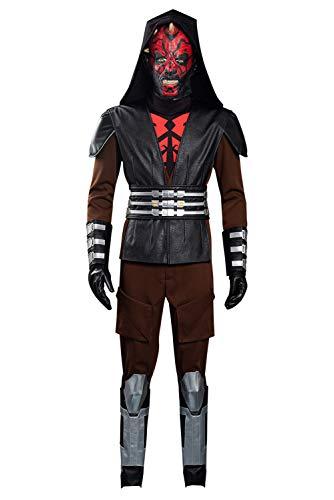Lixinya Disfraz de Darth Maul de Wars, para Halloween, carnaval, cosplay, para hombre, XL