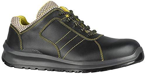 TOE! Ligero Casquillo Composite Cuero Seguridad Trabajo Botas Zapatos S3 SRC Protección Pies, No Metal, Anti Perforación, Diseño Deportivo, Air-Cooled, Transpirable, Baja Humedad, Resistente Aceite